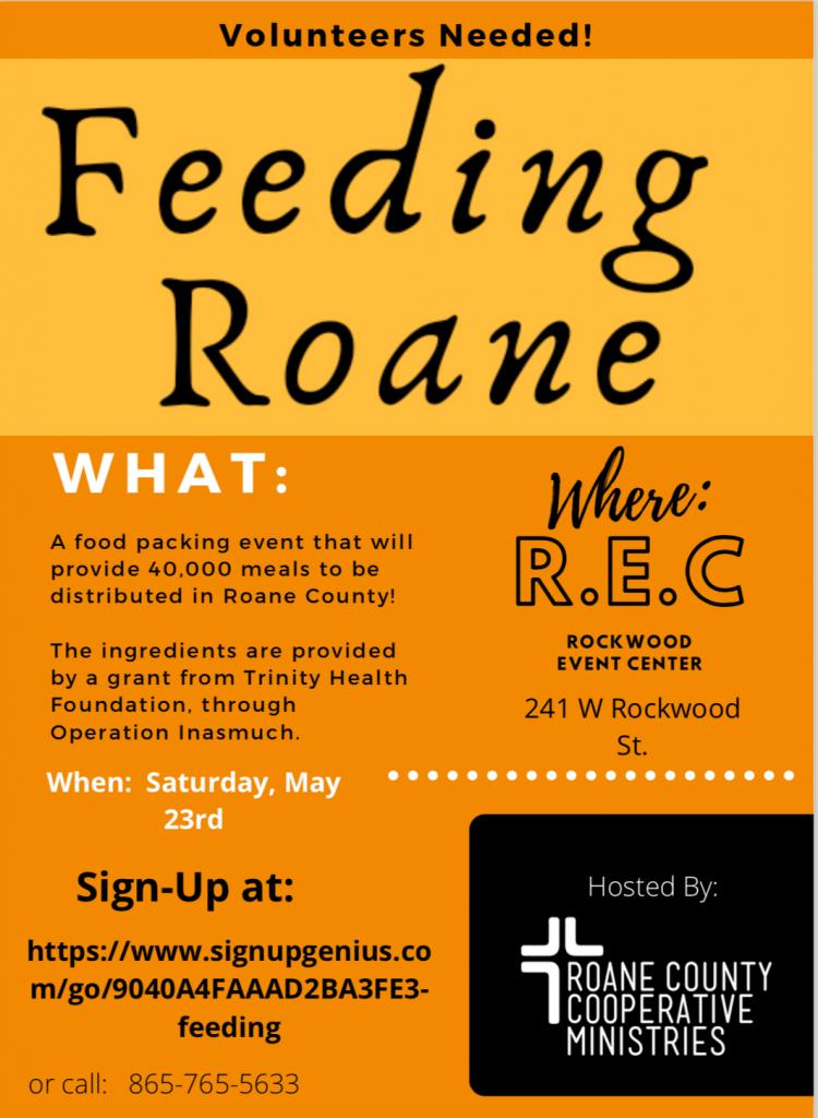 Feeding Roane at REC